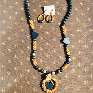Jewelry - Wheat-weaving Necklace and Earrings Set